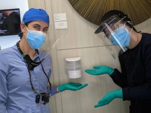 Paloma Dental Team Members highlighting the extra safety precautions in place at their office
